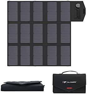ALLPOWERS 100W Portable Foldable Solar Panel Charger (Dual 5v USB with iSolar Technology+18v DC Output) SunPower Solar Panel for Laptop, Portable Generator, 12v Car, Boat, RV Battery