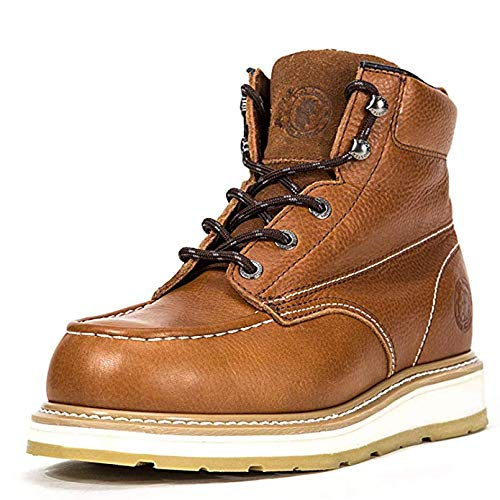 ROCKROOSTER Work Boots for Men, Composite Toe, Safety Water Resistant Leather Shoes, Width EE-Normal (AP828, US 10)