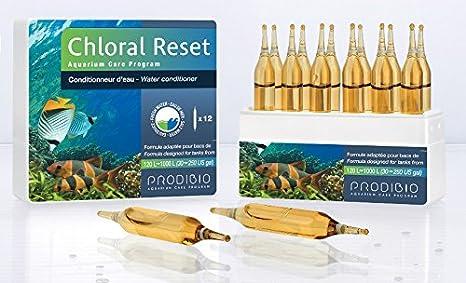 prodibio tricloroacetaldehido Reset Acondicionador de agua para acuario agua dulce Marino Arrecife Coral SPS LPS Salty tanque Tratamiento: Amazon.es: ...