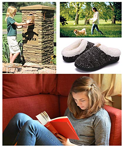 Pictures of Women's Comfort Memory Foam Slippers Plush 2