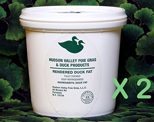 100% Pure Duck Fat - Antibiotic Free - 56 Oz. 2 Quart Tubs - FREE GIFT