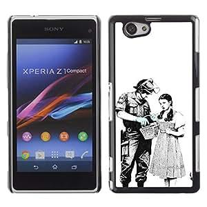 For Sony Xperia Z1 Compact / Z1 Mini / D5503 Case , Police Riot Meaning Liberty Civil - Diseño Patrón Teléfono Caso Cubierta Case Bumper Duro Protección Case Cover Funda