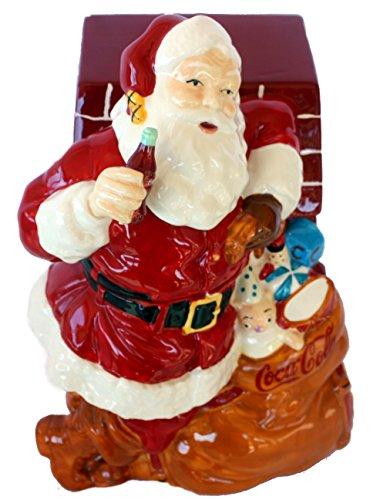 Cookie Coke Jar (Coca-Cola Cookie Jar - Santa by Chimney by Gibson)