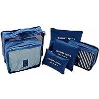 Kit 6 Necessaire Organizador Bolsa Mala Viagem E-bag Mochila