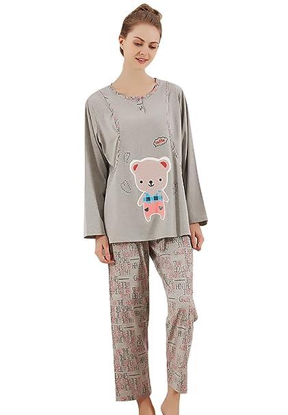 YouPue Premamá Camisón Traje Maternidad De Pijama Servicio A Domicilio Homewear Conjunto De Pijama Cálidas Embarazo