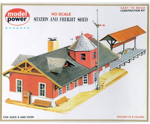 Model Power HO Scale Building Kit - Station And Freight Shed