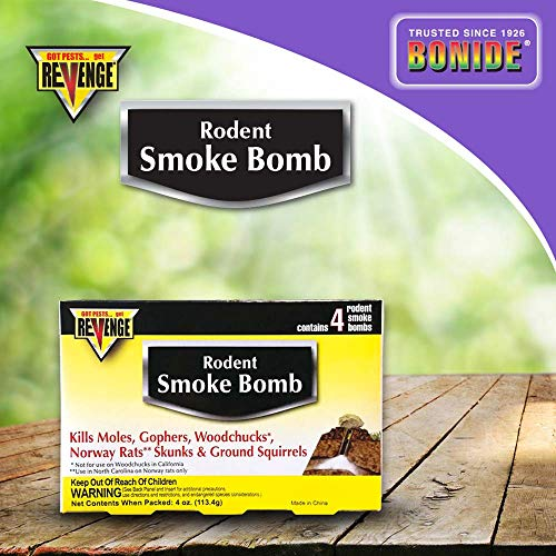 Bonide (BND61110) - Revenge Rodent Smoke Bombs, Mole and Gopher Killer, Poison, Repellent, Trap (4 Pack) (Little House On The Prairie The Raccoon)