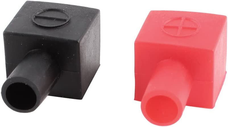 1 Pair Car Auto Air Battery Terminal Covers Positive And Negative Black/&Red Top