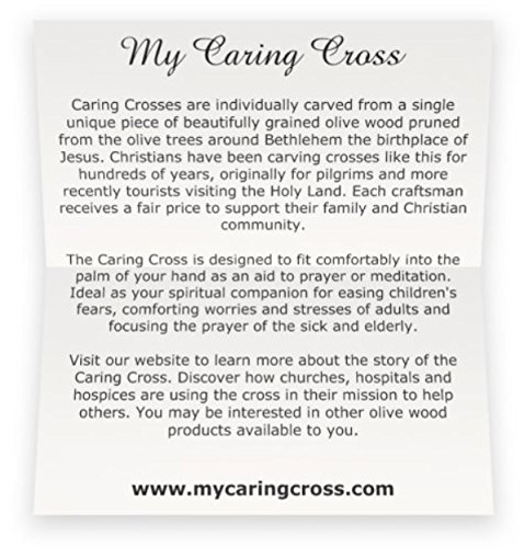 Olive Wood Small Pocket - Holding Crosses (25) by My Caring Cross (Image #4)