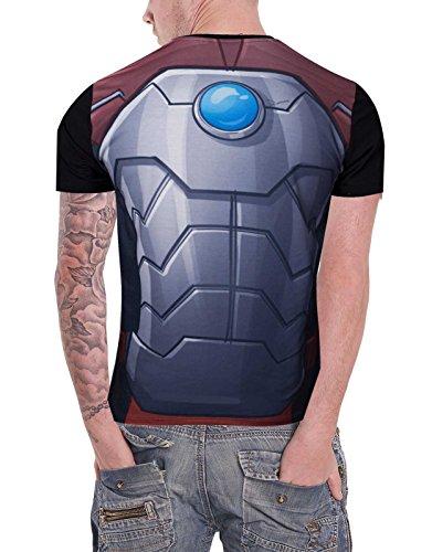 Rocket Raccoon T Shirt Rocket Costume GOTG Official Marvel Mens Sub Dye Print