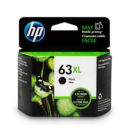 HP 63XL Black Original Ink Cartridge (F6U64AN)