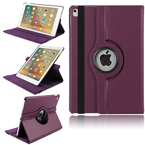 (iPad Air 3 Protector 10.5'',TechCode 360 Degree Rotating Slim Lightweight PU Leather Magnetic Flip Folio Stand Case with Smart Auto Sleep/Wake Protective Cover for 10.5 inch iPad air 3 2019, Purple)