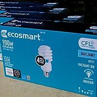 EcoSmart 100W Equivalent Daylight (5000K) Spiral CFL Light Bulb (4-Pack x 3)