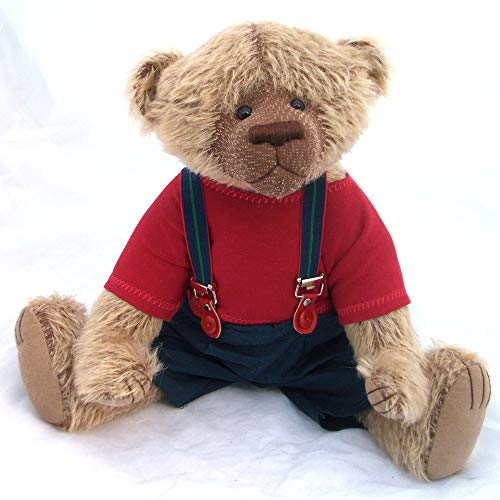 (Windsor-Teddy Bear OOAK Steiff Schulte Brown Mohair Artist Collectible 15 inches by Bearitz)