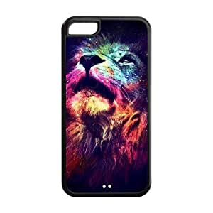 5C Phone Cases, Lion Roar Hard TPU Rubber Cover Case for iPhone 5C