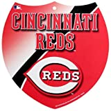 MLB Cincinnati Reds 8'' x 8'' Plastic Shield Sign