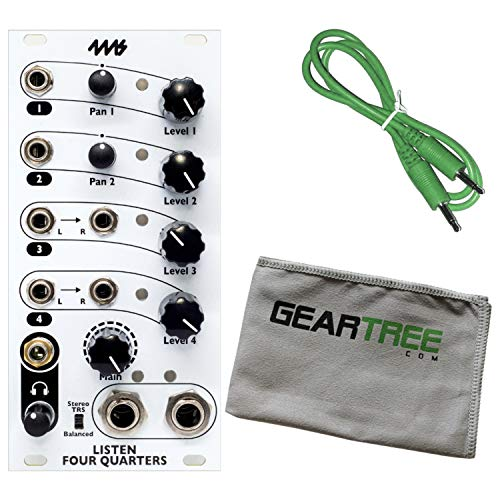 (4MS L4Q Listen 4 Quarters Synth Module w/Geartree Cloth and Patch Cable)