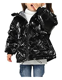 Happy Cherry Kids Down Jacket Hooded Zipper Up Long Sleeve Glossy DownCoat