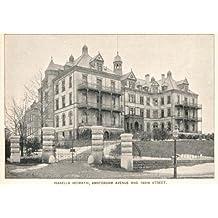 1893 Print Isabella Heimat Home Geriatric Center NYC - Original Halftone Print