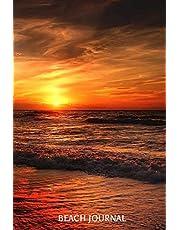 Beach Journal: 6x9 Notebook, Ruled, Beach Sunset, Memory Journal Book, Beach Destination Bucket List, Travel Diary and Planner