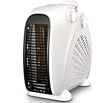 Ceramic space heater,Personal heater fan adjustable thermostat tabletop under-Desk electric oscillating heater household mini bathroom energy saving-B 14x22x23cm(6x9x9)