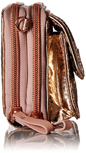 Vera Bradley Iconic Rfid All in One Crossbody, Foiled Cotton, Rose Gold Shimmer by Vera Bradley (Image #3)