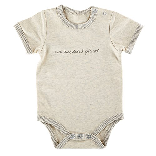 Answered Prayer - Stephan Baby Inspirational Heather Snapshirt-Style Diaper Cover, Answered Prayer, Gray/Cream, 0-3 Months
