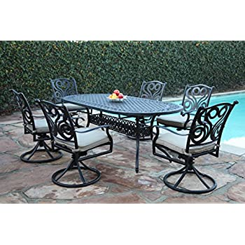 Amazon  Outdoor Cast Aluminum Patio Furniture  Piece Dining