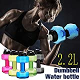 Hi-crazystore Portable Dumbbell Shape Bottle Drinking Water Bottles Water Kettle personalized bottle 2.2L (BPA Free)