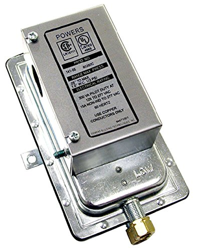 Siemens 141-0518 Powers SW 141 Line Voltage Differential Static Pressure Airflow Switch, Auto Reset, Silver