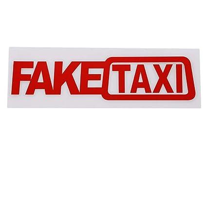 Iumer Fake Taxi Car Sticker Self Adhesive Vinyl Fake Taxi Decal For Car Window Suv 1pcs