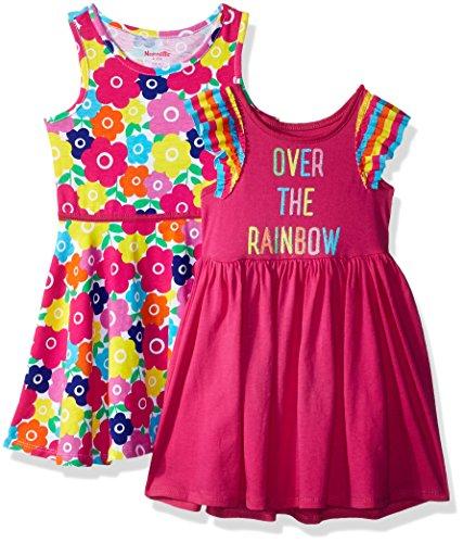 Nannette Little Girls' 2 Pack Knit Dresses, Light Pink, 5 (Pin Little Pink Dress)