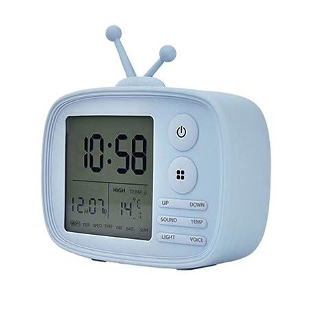 WCXA Despertador Creativo Lindo del televisor LED Digital ...