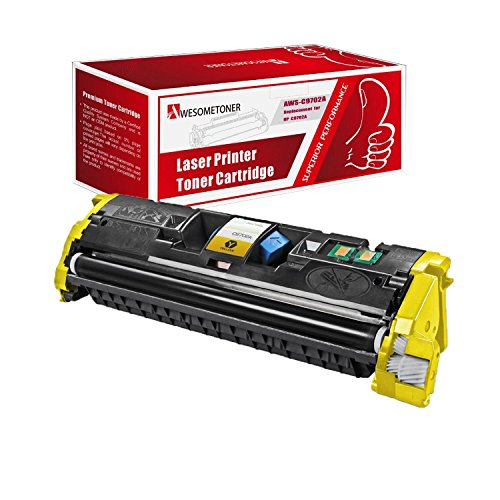 AwesomeToner 1 PK C9702A Compatible Toner cartridge For HP Color LaserJet 1500 1500L 1500LXI 2500 2500L 2500N 2500TN High Yield Yellow 4000 Pages