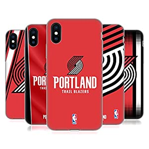 Official NBA Portland Trail Blazers Soft Gel Case for Apple iPhone X