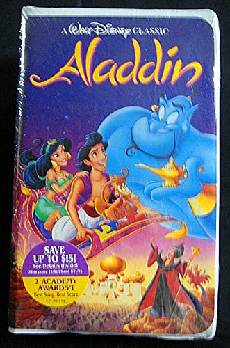 Disney Aladdin Black Diamond 1993 VHS Tape #1662-New in Factory Sealed Wrap-Very - Vhs Black