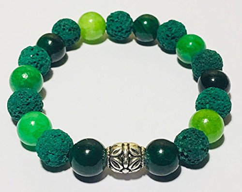 Essential Oil Bracelet, Green Lava Bracelet, Green for sale  Delivered anywhere in Canada