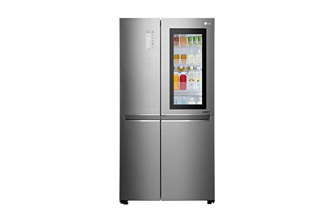 Lg 687 L Inverter Frost Free Side By Side Refrigerator Gc Q247csbv
