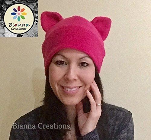 62ed6eb6031218 Pussyhat Pussycat Support Feminist Handmade product image. Score: 10.  Price: $$$. Dark Pink Pussyhat Pussycat Pussy Cat ...