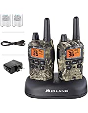 Midland 36 Channel/38 Mile Two Way Radio with 121 Codes, with X Scan-Alert, Battery, Rapid Charge DTC and USB (T75VP3)
