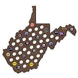 West Virginia Beer Cap Map Wood Bottle Beer Cap Collector Beer Holders Cool Gifts Presents for Him 19.69 x 14.57