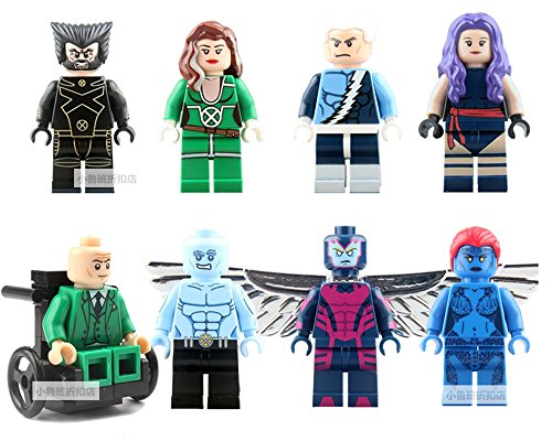 X-Men: Apocalypse Figures Pack of 8 Blocks Toys (Plastic) - Apocalypse X Men Movie Costume