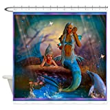 "CafePress Merrow Mermaid Decorative Fabric Shower Curtain (69""x70"")"