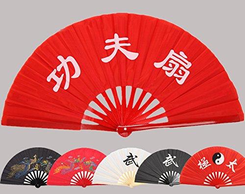 Chinese Bamboo Taichi Kungfu Fan Martial Arts Weapon