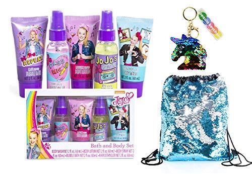 Jojo Siwa Bath and Body Spa Set for Girls With Jojo Siwa Mystery Hair bow Pack