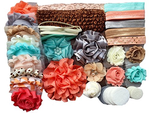 Bowtique Emilee Mini Headband Kit Makes 14 Headbands, DIY Baby Headband Kit -
