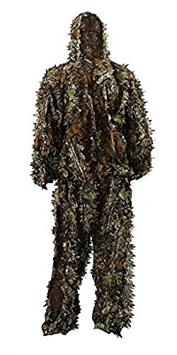 Leafy Camo (Zicac Outdoor Camo Ghillie Suit 3D Leafy Camouflage Clothing Jungle Woodland Hunting (Height Above 5'11