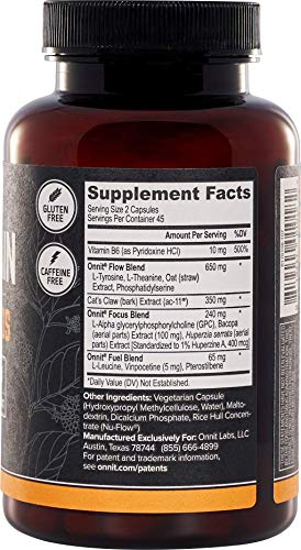 Onnit Alpha Brain: Clinically Studied Nootropic for Memory, Focus, and Mental Clarity (180ct) by ONNIT (Image #1)