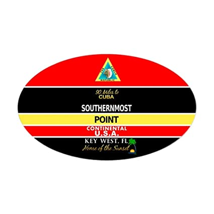 Cafepress southernmost point buoy key west sticker oval bumper sticker euro oval car
