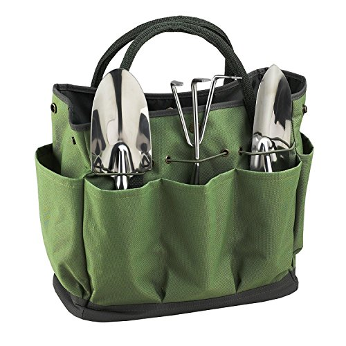 Garden Tote,Tool Bags Gardening Tote Bag Outdoor Multi Pocket Garden Tool Kit Holder Bag Compact Hand Tool Gardeners Storage Bag Tote Organizer Yard Plant Tool Carrier Bag Pouches